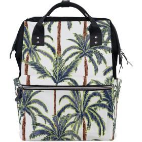 MIMUTI バックパック 夏のヤシの木が白い森 男女兼用 通学 通勤 旅行 スポーツ バッグ