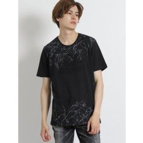 【semantic design:トップス】コットン天竺エンボスロゴ クルーネック半袖Tシャツ