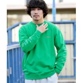 BEAMS T ALMANIAC / Flux Car Crewneck Sweatshirt メンズ スウェット GREEN L