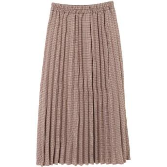 【6,000円(税込)以上のお買物で全国送料無料。】【Chou Chou】smallCHECKプリーツスカート