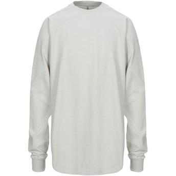 《セール開催中》RICK OWENS メンズ スウェットシャツ ライトグレー M コットン 100%