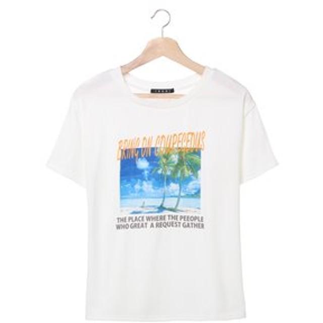 【INGNI:トップス】ビーチフォトTシャツ