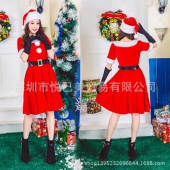 クリスマスの丸襟の毛玉の服クリスマスのパーティーに出演する衣装のコスプレ衣装です