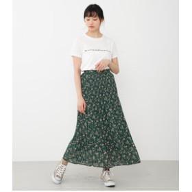 【Avan Lily:スカート】MIX FLOWERプリーツマキシSK