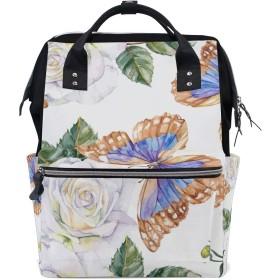 MIMUTI バックパック モルフォ蝶バラデイジーシームレスな手 男女兼用 通学 通勤 旅行 スポーツ バッグ