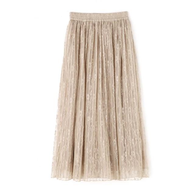 【公式/フリーズマート】レースプリーツスカート/女性/スカート/ベージュ/サイズ:FR/(外側)ポリエステル 100%(内側)ポリエステル 100%(裏生地)ポリエステル 100%