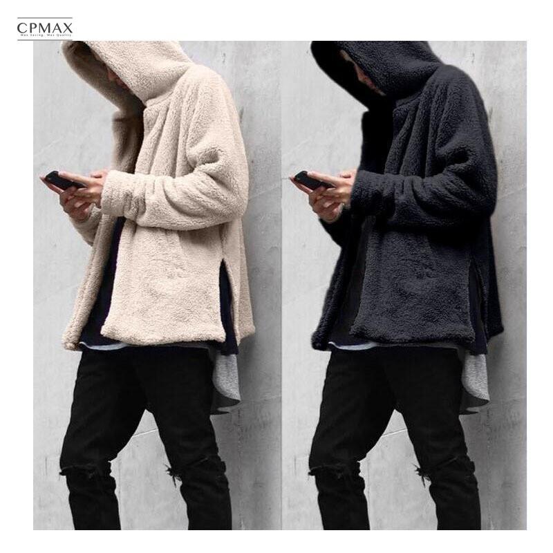 cpmax 寬鬆毛絨連帽外套 暖復古慵懶風 羊羔絨外套 連帽開襟外套 男款外套 羊羔絨 外套 連帽夾