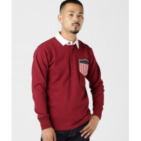 BEAMS PLUS ROWING BLAZERS / USA RUGBY SHIRT メンズ ポロシャツ Burgundy XS