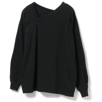 【30%OFF】 ビームス ウィメン Ray BEAMS / アシメ Vネック Tシャツ レディース BLACK ONESIZE 【BEAMS WOMEN】 【セール開催中】