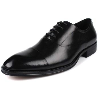 メンズオックスフォードシューズ、丸いつま先フォーマルシューズ紳士靴ビジネスオフィスシューズオックスフォードレースアップ手作りゴム底、