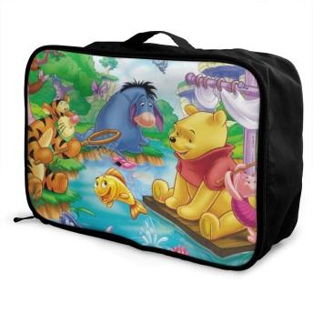 ボストンバッグ ウィニー キャリーオンバッグ トラベルバッグ 大容量 厚手 丈夫 荷物 折りたたみ スーツケース固定可 旅行 出張 男女兼用 かわいい おしゃれ