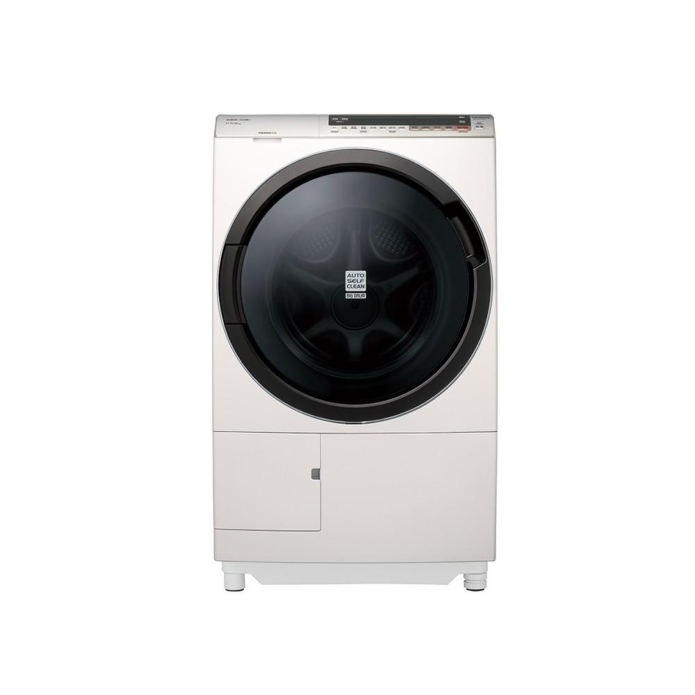 詢問最低價【HITACHI 日立】11.5KG 尼加拉飛瀑 滾筒洗衣機 洗脫烘 BDSX115CJ 左開 珍珠白