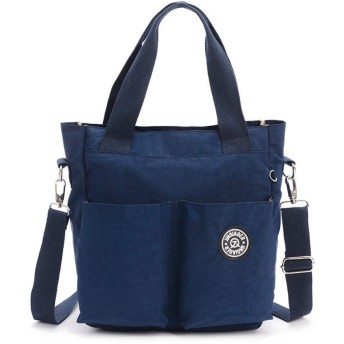 JINQIAOER トートバッグ マザーズバッグ 大容量 ショルダーバッグ 斜め掛けバッグ 肩がけバッグ レディース トラベルバック 鞄 メンズバッグ (ネイビー)