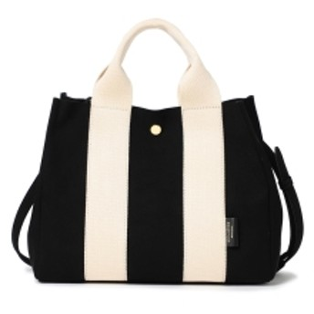 Demi-Luxe BEAMS VIOLAd'ORO / NEW ジーノ ナイロントートバッグ レディース トートバッグ BLACK/OFF WHITE ONE SIZE
