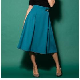 【J Lounge:スカート】バックルフレアスカート