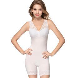 思薇爾 Love myself系列M-XL蕾絲連身輕塑修飾衣  奶油色
