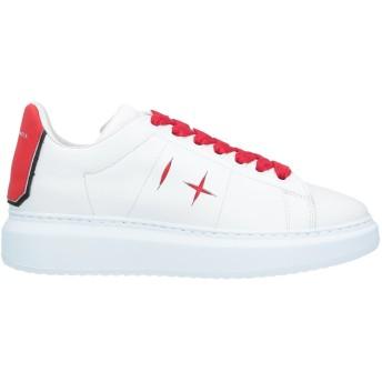 《セール開催中》D'ACQUASPARTA レディース スニーカー&テニスシューズ(ローカット) ホワイト 40 革 / 紡績繊維
