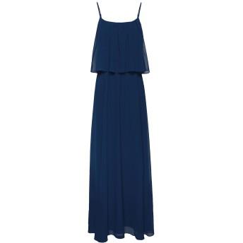 《セール開催中》8 by YOOX レディース ロングワンピース&ドレス ブルー 38 ポリエステル 100%