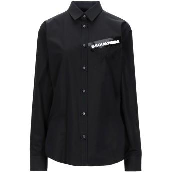 《セール開催中》DSQUARED2 レディース シャツ ブラック 38 コットン 100%