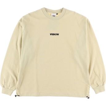 【6,000円(税込)以上のお買物で全国送料無料。】【VISION】ヘビーウエイトワンポイント刺繍ロンT