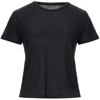 《セール開催中》MAJESTIC FILATURES レディース T シャツ ブラック 2 麻 94% / ポリウレタン 6%