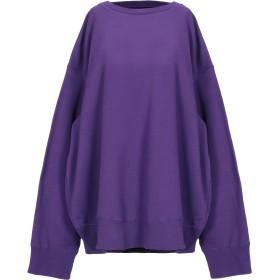 《セール開催中》MM6 MAISON MARGIELA レディース スウェットシャツ パープル S コットン 100% / ポリウレタン