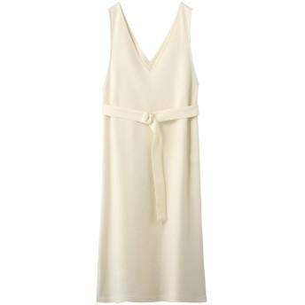 allureville アルアバイル 圧縮スムースジャンパースカート ホワイト