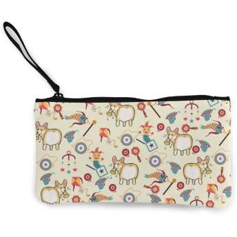 財布 面白いコーギー 小銭入れ 収納 大容量 おしゃれ ファスナー 財布 メンズ レディース