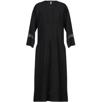 《セール開催中》SOFIE D'HOORE レディース 7分丈ワンピース・ドレス ブラック 36 麻 100%