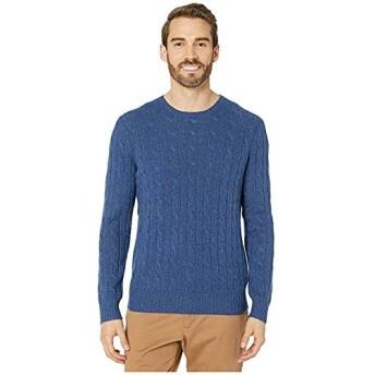 [Polo Ralph Lauren(ポロラルフローレン)] メンズセーター・トレーナー Long Sleeve Cable Cashmere Sweater Rustic Navy Heather M [並行輸入品]