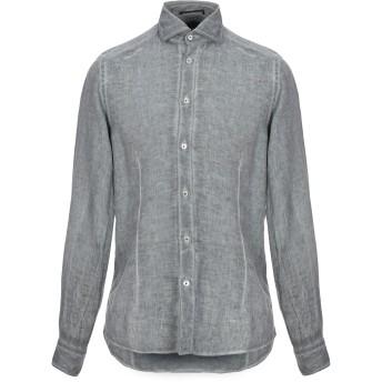 《セール開催中》PLOUMANAC'H メンズ シャツ グレー 38 麻 100%