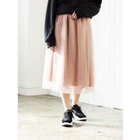 【E hyphen world gallery:スカート】チュールリバーシブルスカート