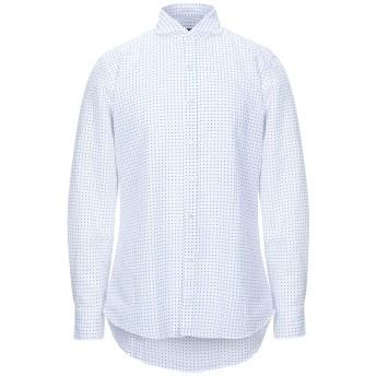 《セール開催中》HIMON'S メンズ シャツ ホワイト 38 コットン 58% / 麻 42%