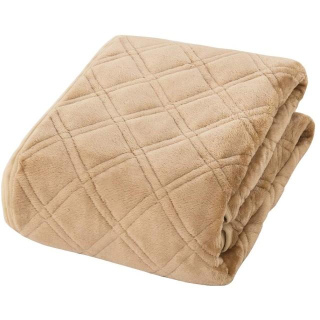 敷きパッド セミダブル あったか 冬用 マイクロファイバー フランネル ベッドパッド 静電気防止 吸湿 発熱 消臭 防ダニ とろける ゴムバンド付き 洗える ふんわり 毛玉なし 中綿入り 120x205cm ベージュ