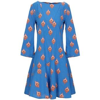 《セール開催中》OPALINE レディース ミニワンピース&ドレス ブルー S コットン 100%