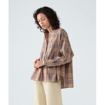 Pilgrim Surf+Supply Pilgrim Surf+Supply / Deanna Wool Plaid Shirt レディース カジュアルシャツ KAHKI ONE SIZE