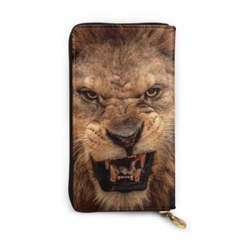 ビッグライオン 財布 本物の牛革 長財布 メンズ財布 レディース財布 おしゃれ ジッパー コインケース 大容量 小銭入れ ファッション小物