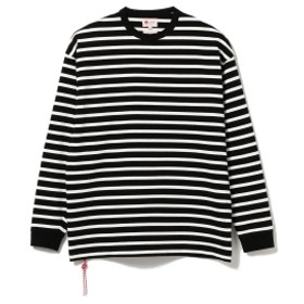 BEAMS JAPAN <ユニセックス>BEAMS JAPAN / ボーダー ロングスリーブ Tシャツ メンズ Tシャツ BLACK L