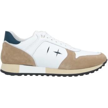 《セール開催中》D'ACQUASPARTA メンズ スニーカー&テニスシューズ(ローカット) ホワイト 43 革 / 紡績繊維