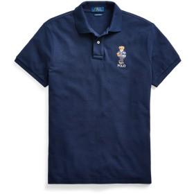 《セール開催中》POLO RALPH LAUREN メンズ ポロシャツ ダークブルー S コットン 100% CUSTOM SLIM FIT BEAR MESH POLO
