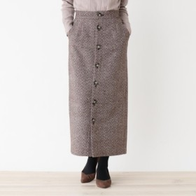 [マルイ]【セール】フロントボタンツイードタイトスカート/オペークドットクリップ(OPAQUE. CLIP)