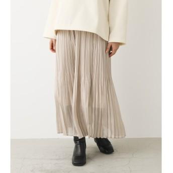 アヴァンリリィ AVAN LILY シャイニーフィラメントサテンスカート (オフホワイト)