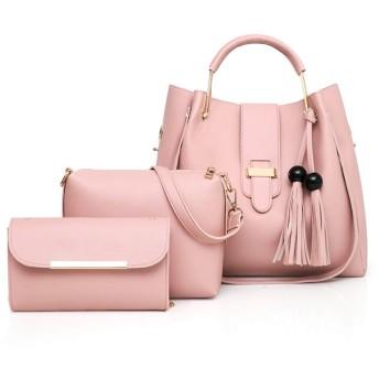 ACHICOO クロスボディバッグ ハンドバッグ シングルショルダーバッグ レディーズ レトロバケットバッグ ソリッドカラー 7本/セット 女性 ファッション ピンク ワンサイズ