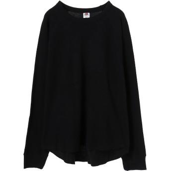 FRUIT OF THE LOOM フルーツオブザルーム FTL_サーマル1P Tシャツ・カットソー,ブラック