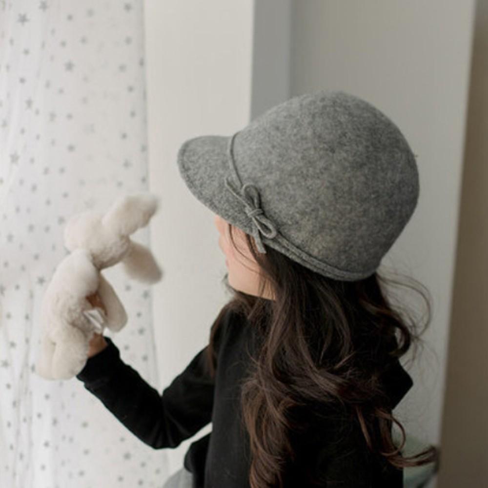 女童 鐘型帽 毛尼小圓帽 帽子 大童 親子款 大童 冬款 橘魔法【p0061200423845】
