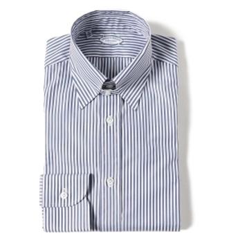 BEAMS F VINCENZO DI RUGGIERO / ロンドンストライプ タブカラー シャツ メンズ ドレスシャツ BLUE/3 41
