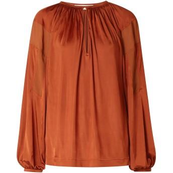 《セール開催中》CHLO レディース T シャツ 赤茶色 34 レーヨン 100%