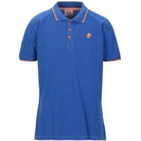 《セール開催中》LEONE メンズ ポロシャツ ブルー L コットン 100%