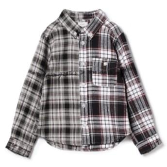 こども ビームス THE PARK SHOP / HALFBOY シャツ 18 (95~135cm)◇ キッズ カジュアルシャツ STRIPE 105