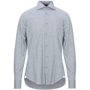 《セール開催中》BORSA メンズ シャツ グレー 40 コットン 100%
